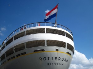 SS Rotterdam stern of the ship