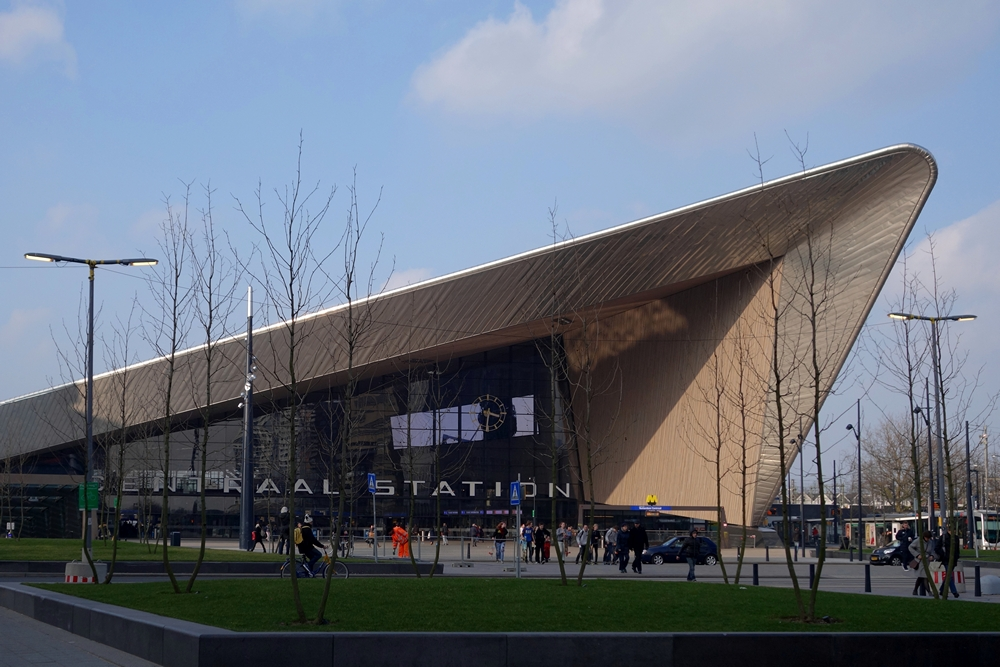 Rotterdam Central Station front view