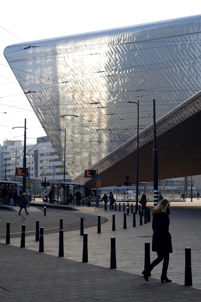 Rotterdam Central Station side view #03