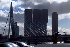 Erasmus Bridge Rotterdam north bank side