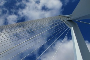 Erasmus Bridge Rotterdam pylon detail