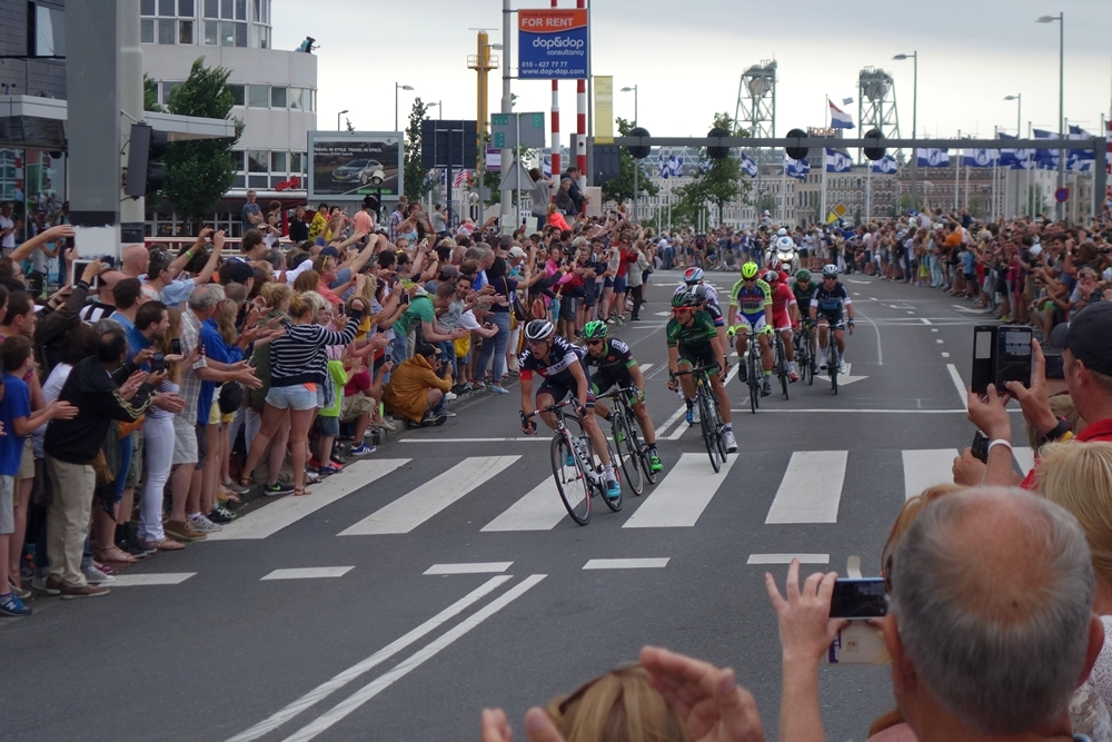 Tour de France in Rotterdam 2015, group up front