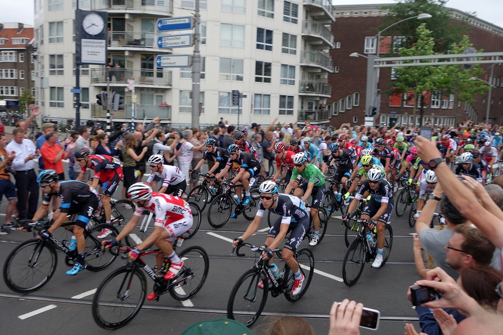 Tour de France in Rotterdam, cyclists peloton Rotterdam City