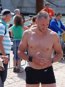 Rotterdam Swim challenge, swimmer preparing for start