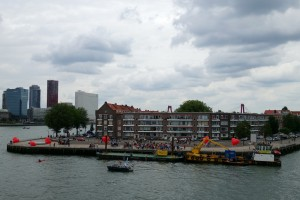 Noordereiland in the river Maas