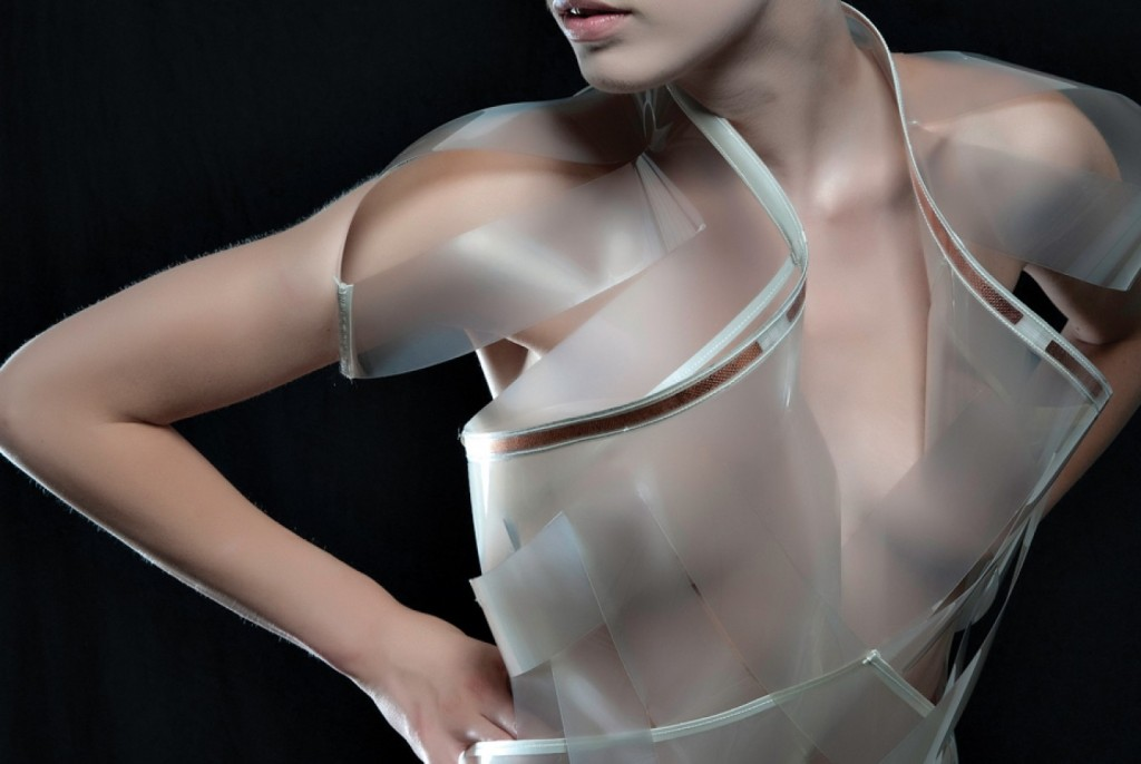 Daan Roosegaarde's fashion project 'Intimacy' showing dresses that can change in transparency