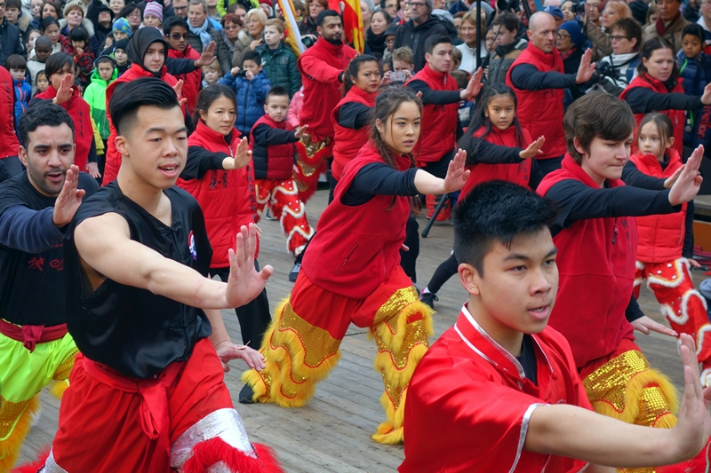 Chinese New Year celebration dance