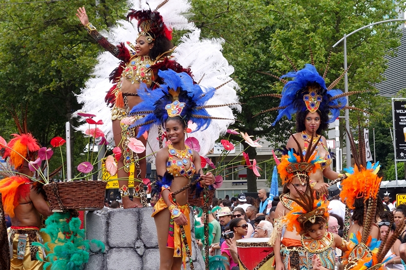Floats summer carnival parade Rotterdam