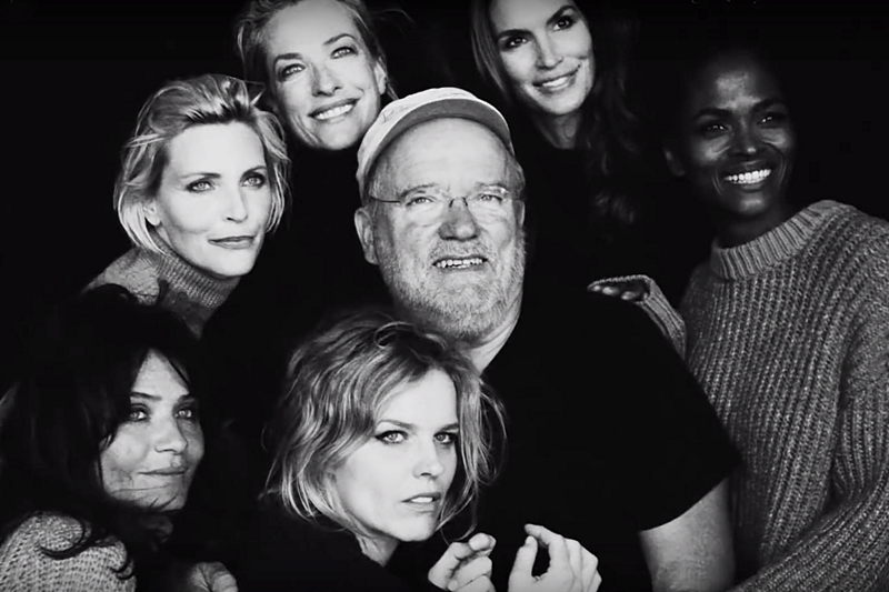 Top models shoot by photographer Peter Lindbergh